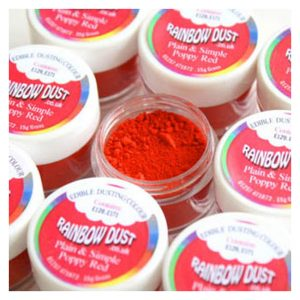 colorante in polvere idrosolubile poppy red rainbow dust 2
