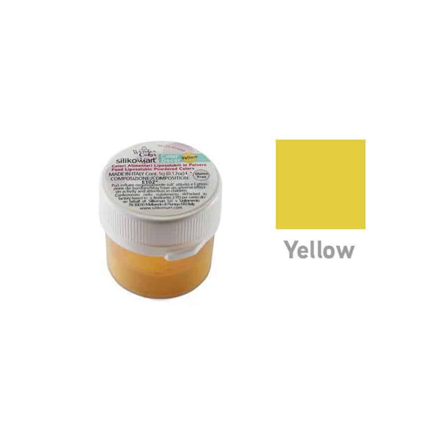 Colorante in polvere liposolubile giallo Silikomart - 5 gr