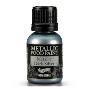 colorante tempera alimentare metallizzato argento rainbow dust