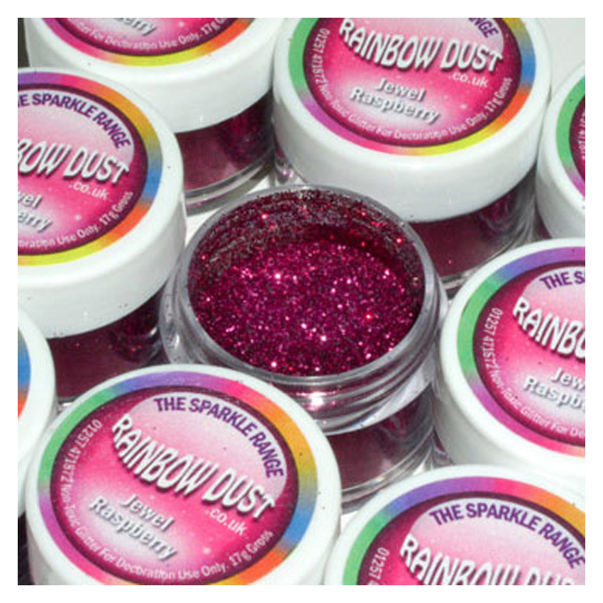 Glitter sparkles jewel raspberry - Rainbow Dust