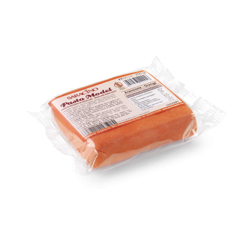 Pasta di zucchero Model arancione Saracino - 250 gr