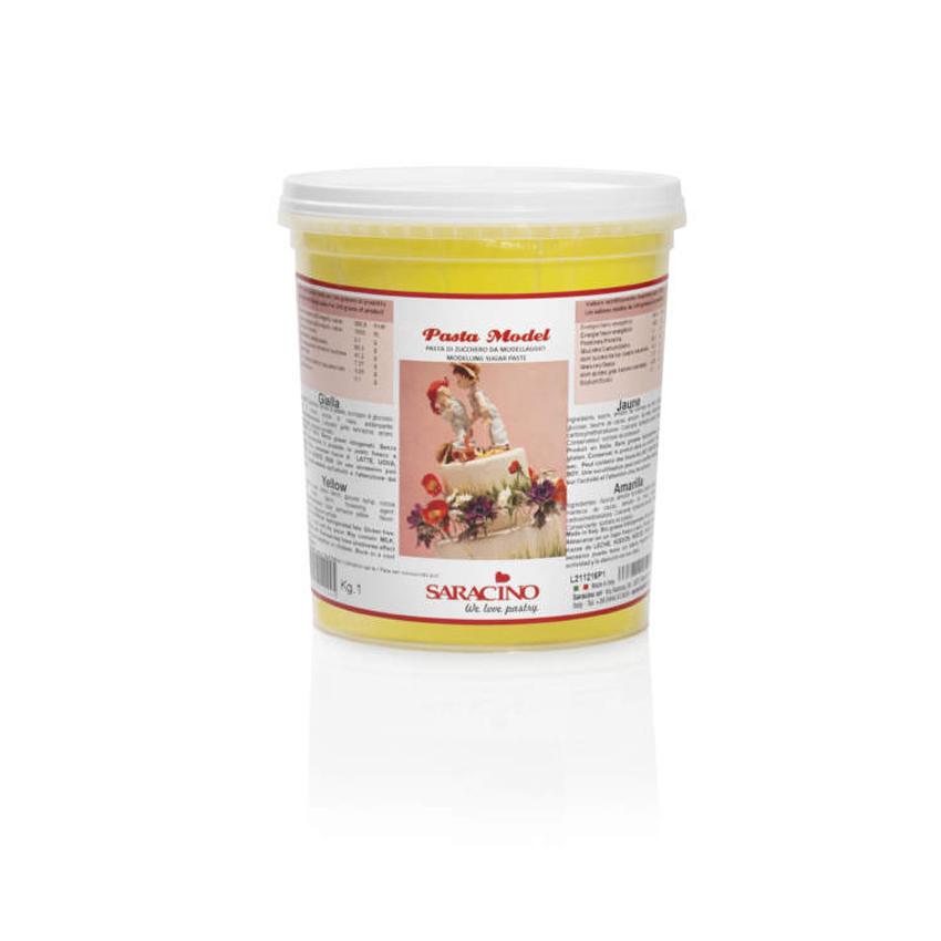 Pasta di zucchero Model gialla Saracino- 1 Kg