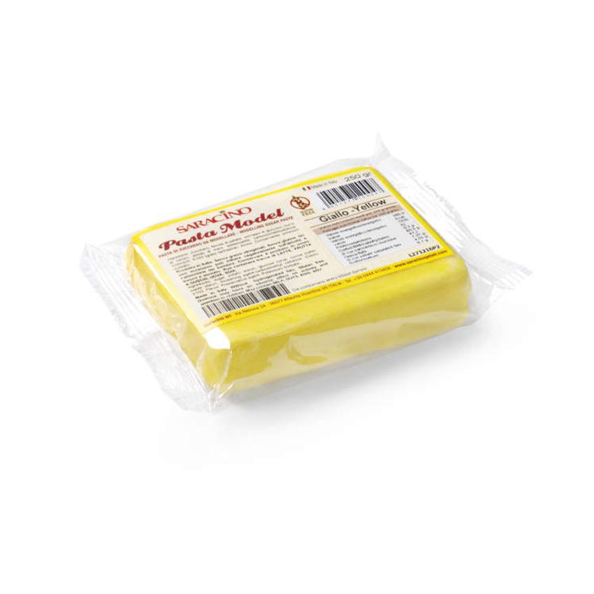 Pasta di zucchero Model gialla Saracino - 250 gr