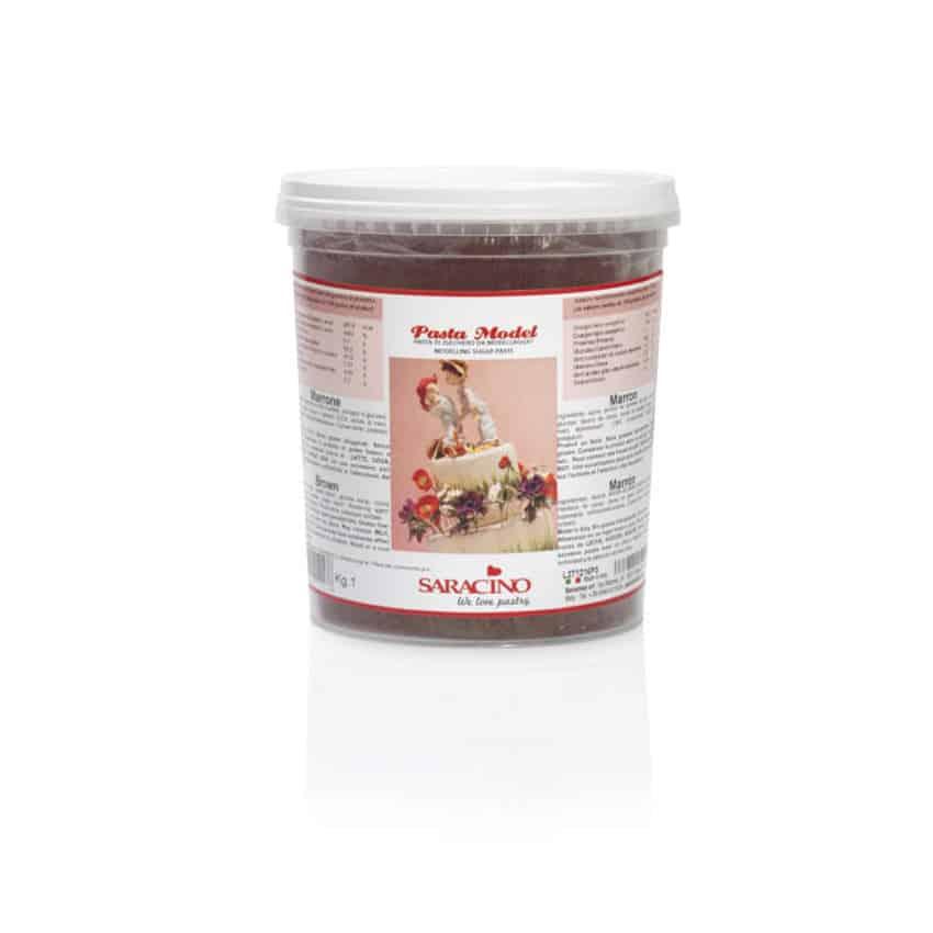Pasta di zucchero Model marrone Saracino- 1 Kg