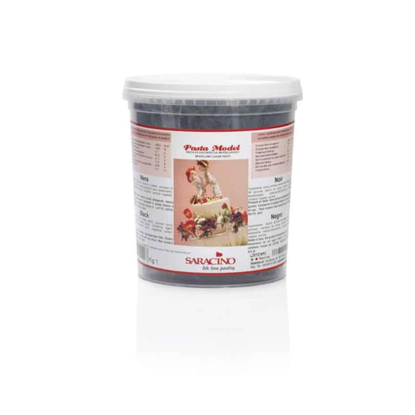 Pasta di zucchero Model nera Saracino - 1 Kg