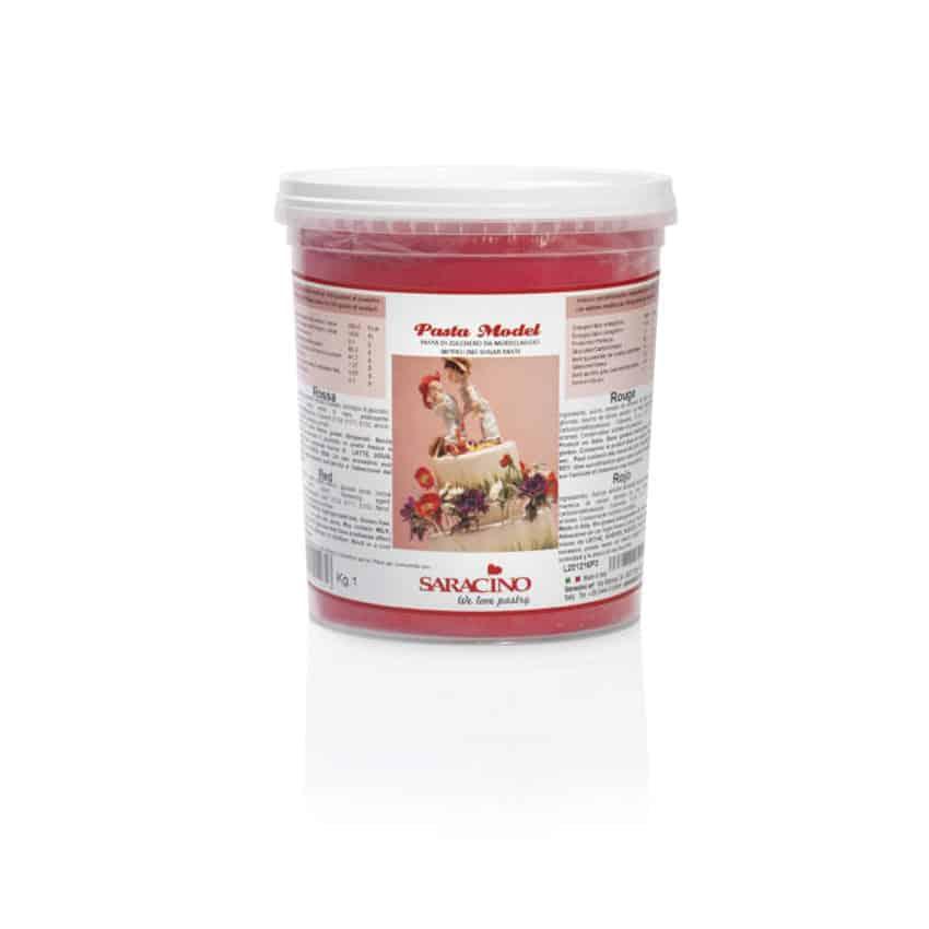 Pasta di zucchero Model rossa Saracino - 1 kg
