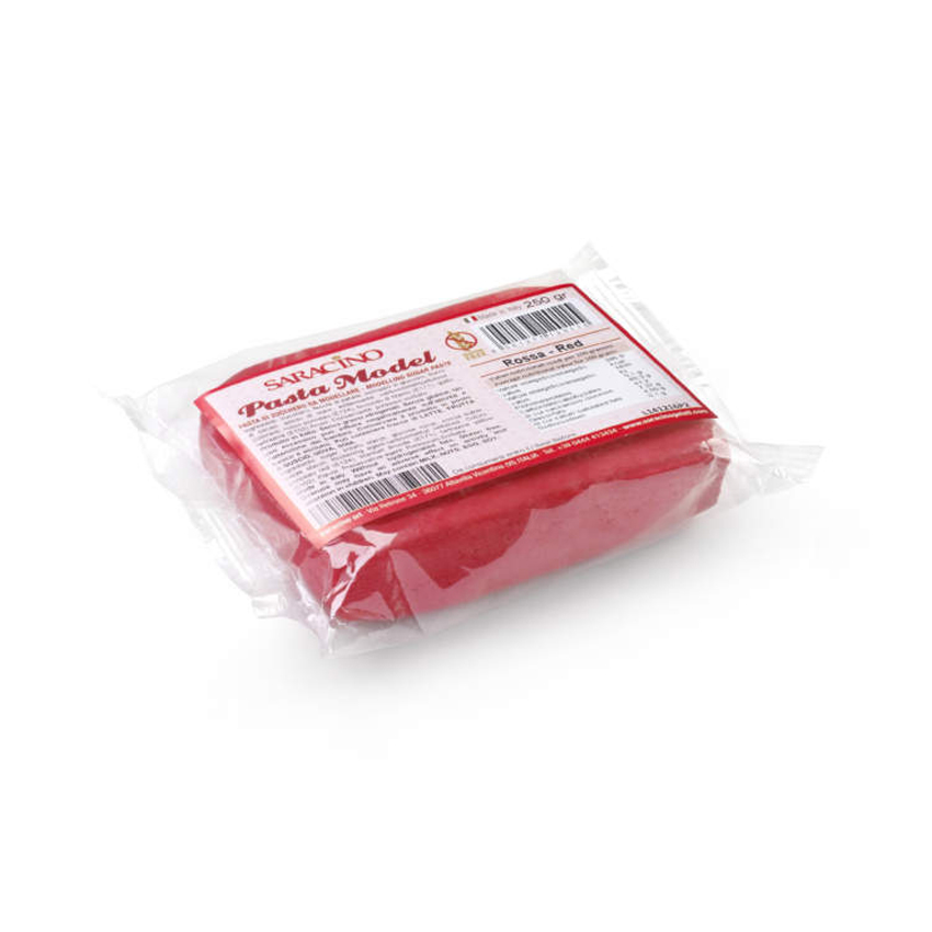Pasta di zucchero Model rossa Saracino - 250 gr