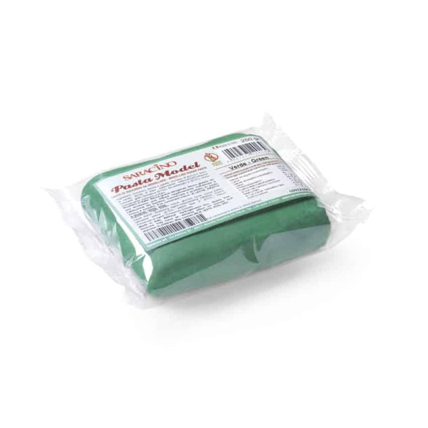 Pasta di zucchero Model verde Saracino - 250 gr