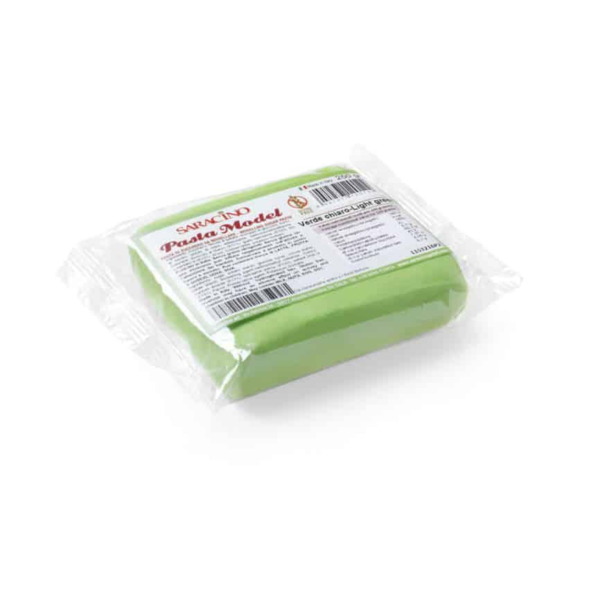 Pasta di zucchero Model verde chiaro Saracino - 250 gr