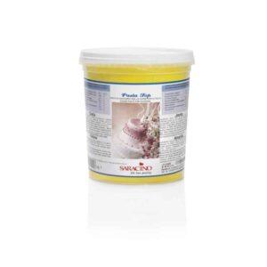 Pasta di zucchero da copertura Top gialla Saracino - 1 Kg