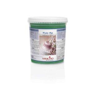 Pasta di zucchero da copertura Top verde Saracino - 1 Kg