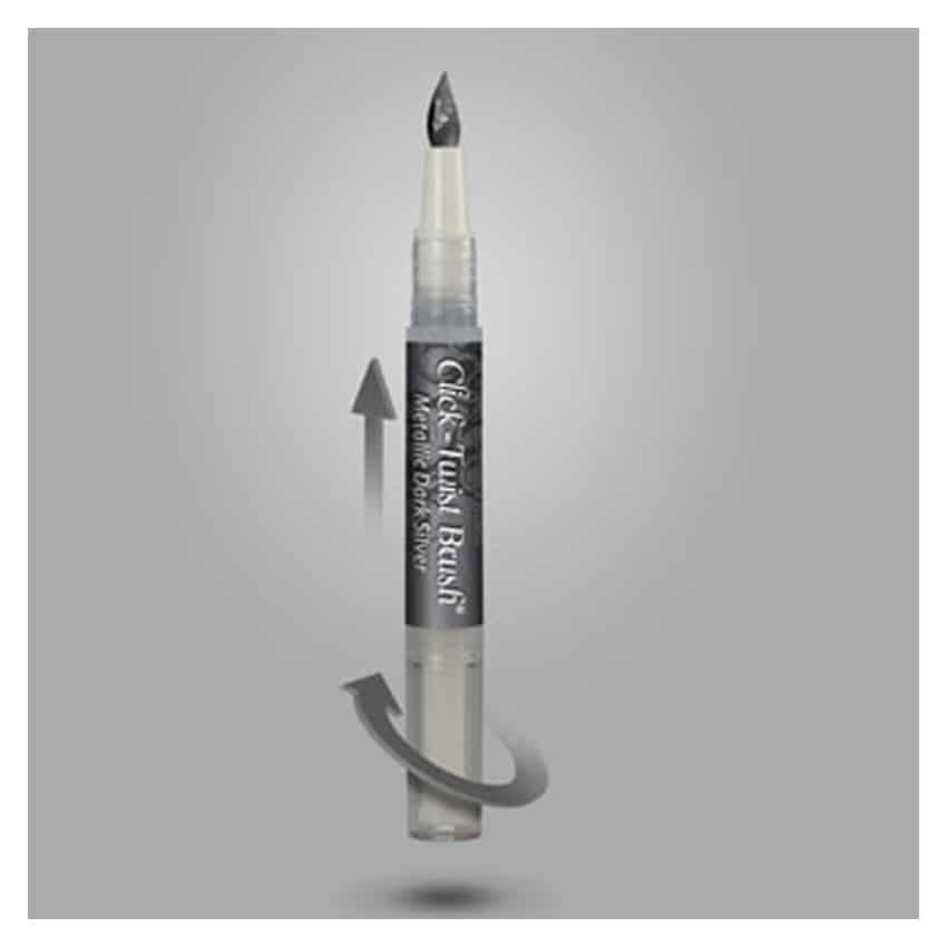 Pennarello alimentare pennello Click Twist Metallic Black Nero - Rainbow Dust