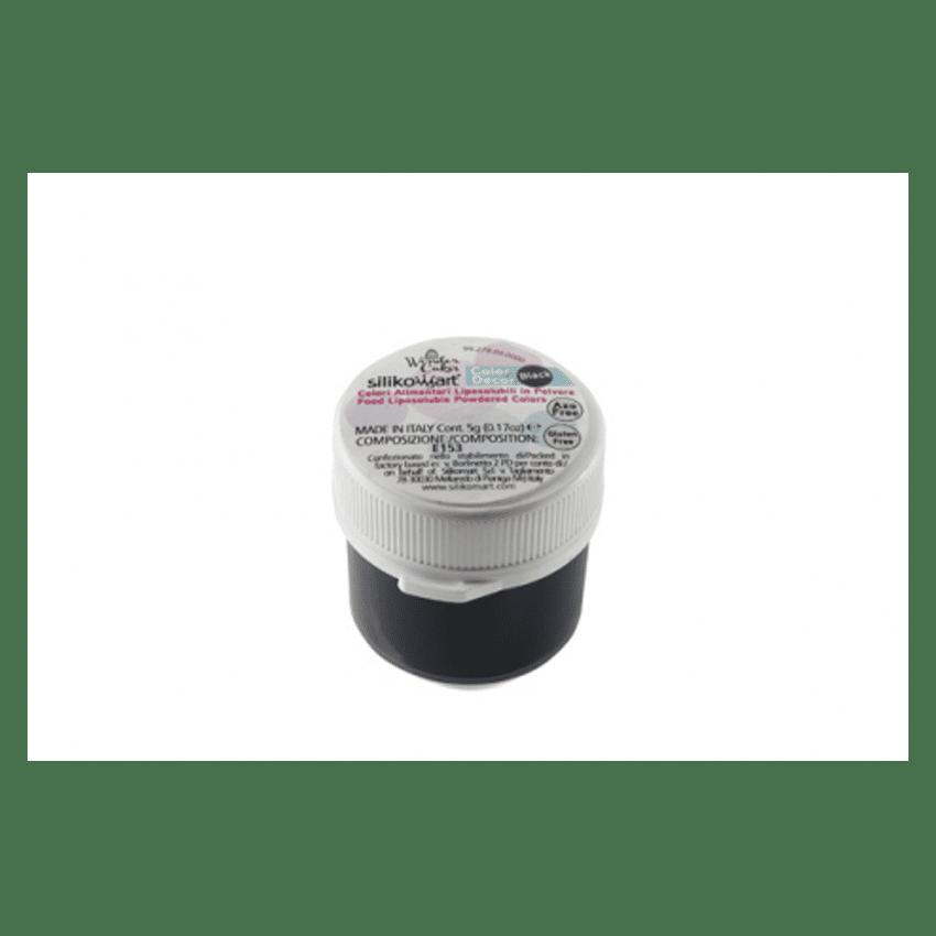 Colorante in polvere liposolubile nero Silikomart - 5 gr
