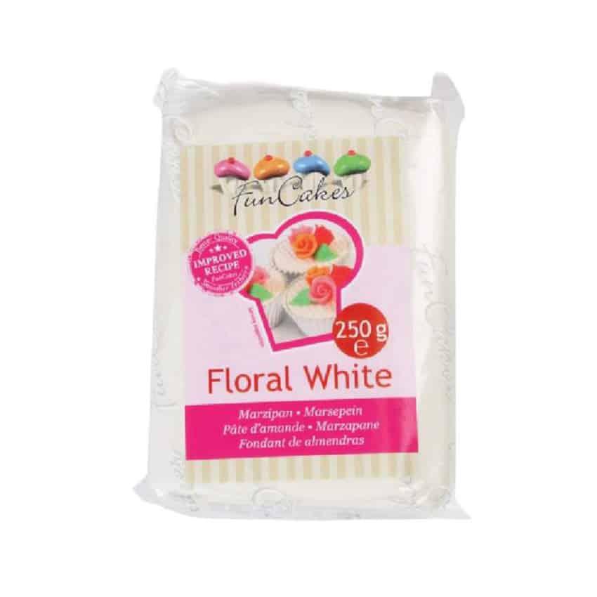 Marzapane bianco Floral White Funcakes - 250 gr