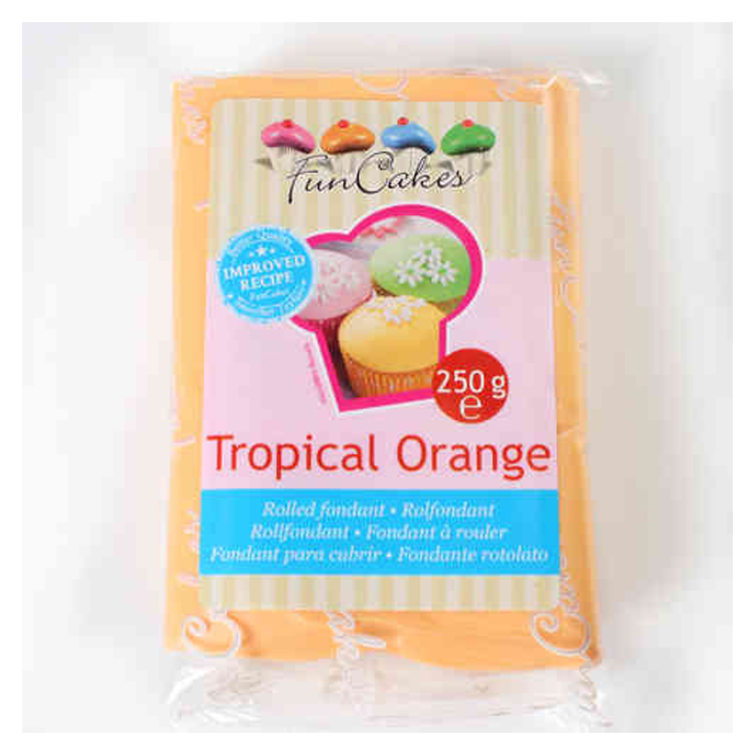 Pasta di Zucchero arancione Tropical Orange FunCakes - 250gr