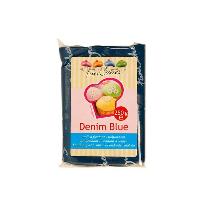 Pasta di Zucchero blu Denim Blue FunCakes - 250gr