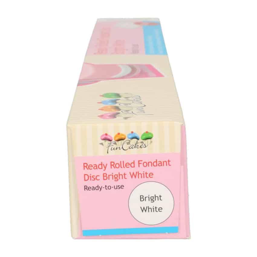 Pasta di Zucchero già stesa bianca Bright White FunCakes - 430gr