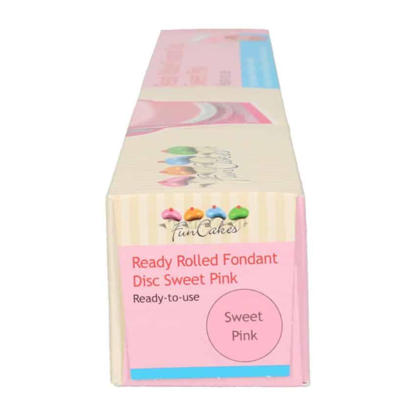 Pasta di Zucchero già stesa rosa Sweet Pink FunCakes - 430gr