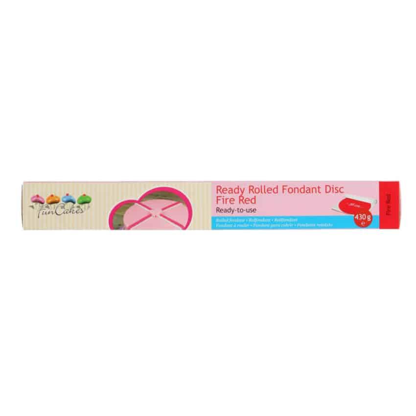 Pasta di Zucchero già stesa rossa Fire Red FunCakes - 430gr
