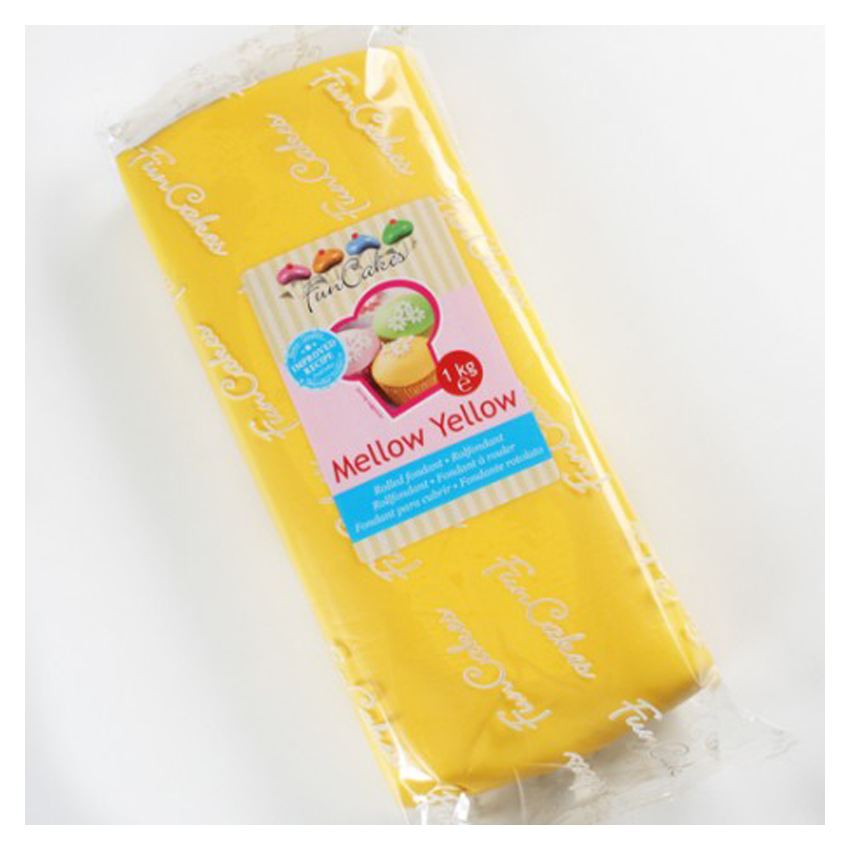 Pasta di Zucchero gialla Mellow Yellow FunCakes -1kg