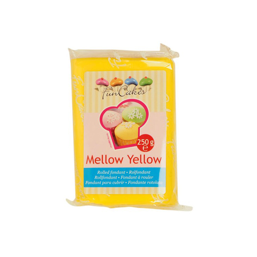Pasta di Zucchero gialla Mellow Yellow FunCakes - 250gr