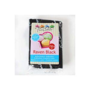 pasta di zucchero nera raven black funcakes 250gr