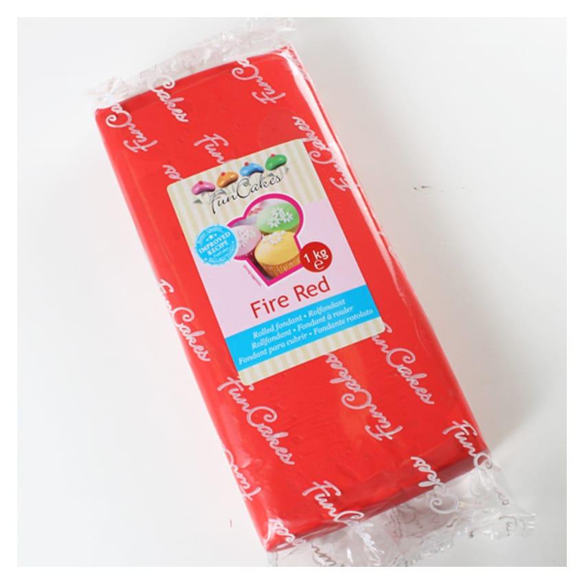 Pasta di Zucchero rossa Fire Red FunCakes - 1Kg
