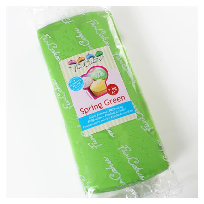 Pasta di Zucchero verde Spring Green FunCakes - 1Kg