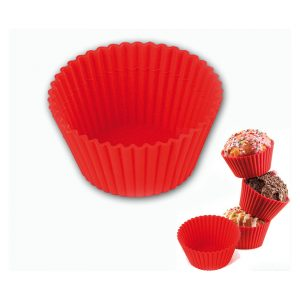 set sei pirottini muffin silicone silikomart