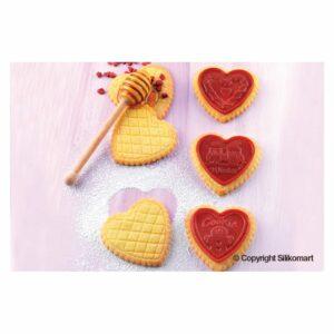 Stampo biscotti silicone Cookie Hearts Silkomart CKC03 SLIM
