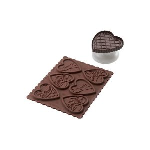Stampo biscotti in silicone Cookie Love Silikomart CKC06 SLIM