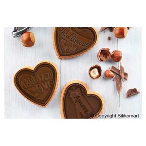 stampo biscotti silicone cookie love ckc63 slim silikomart