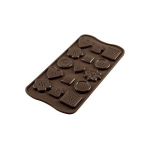 Stampo in silicone bottoni Choco Buttons Silikomart SCG29