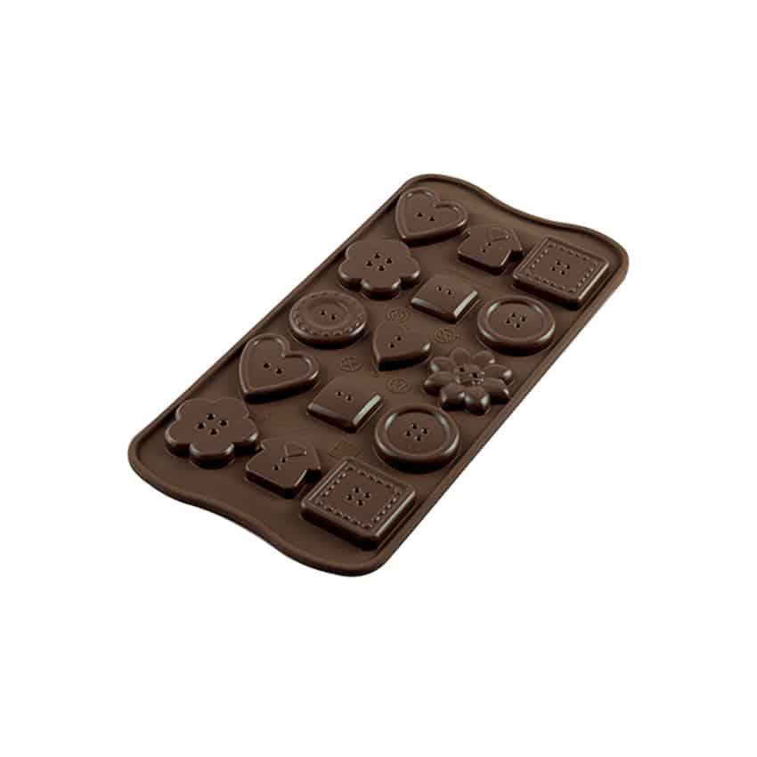 Stampo in silicone bottoni Choco Buttons Silikomart SCG29