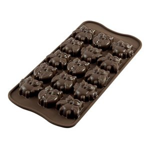 Stampo in silicone Choco Gufi Silikomart SCG026