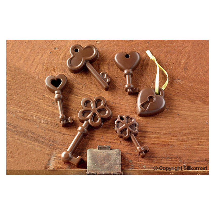 Stampo in silicone chiavi Choco Keys Silikomart SCG33