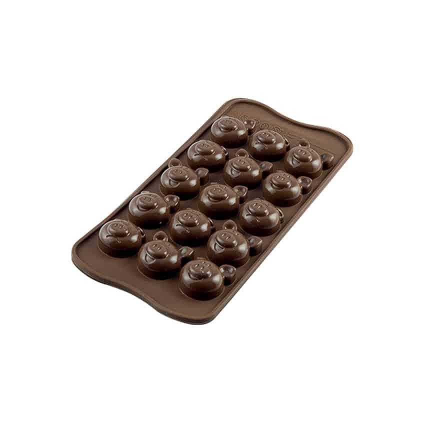 Stampo in silicone Choco Pigs Silikomart SCG35