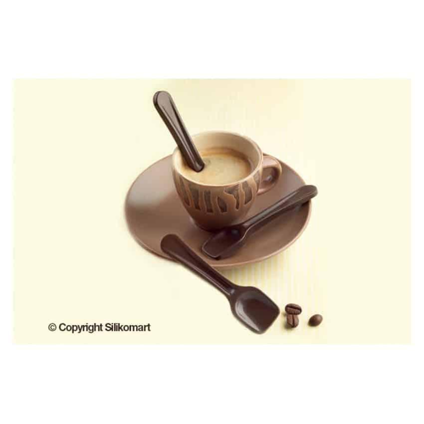 Stampo in silicone cucchiaini Choco spoons Silikomart SCG28