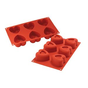 Stampo in silicone savarin cuore Passion Silikomart SF124