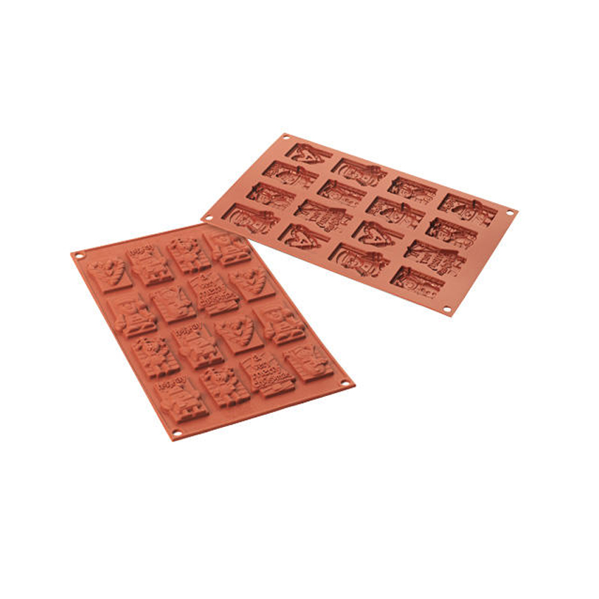 Stampo in silicone Xmas Choco Tags SF146
