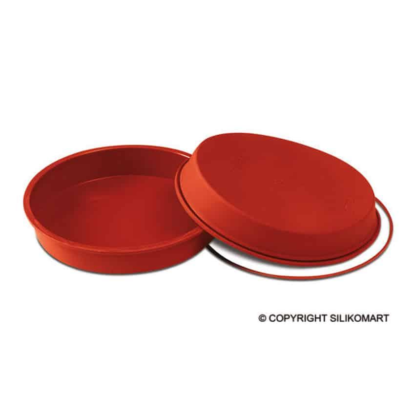 Stampo in silicone tortiera tonda round pan 26cm for Attrezzi cucina in silicone