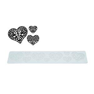Tappeto in silicone per pizzi e merletti Tricot Hearts Silikomart TRD11