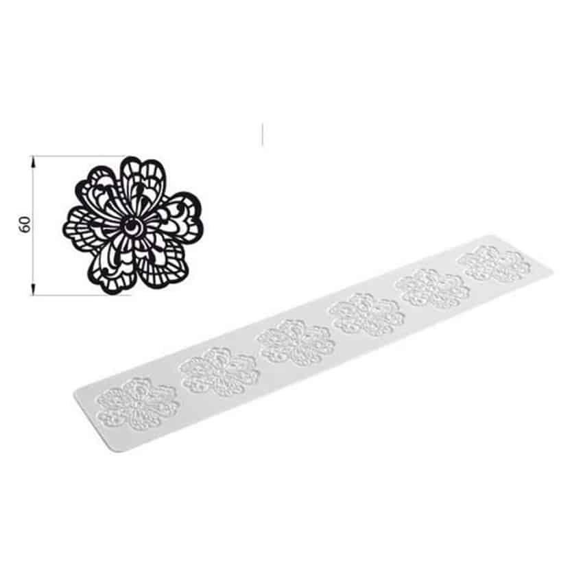 Tappeto in silicone per pizzi e merletti Tricot Flower Silikomart TRD03