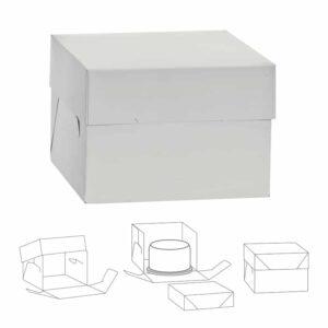 Scatola per dolci 40,5x40,5 h37 cm con coperchio Decora