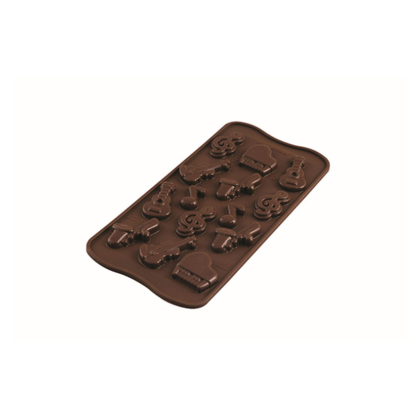Stampo in silicone strumenti musicali Choco Melody Silikomart SCG43