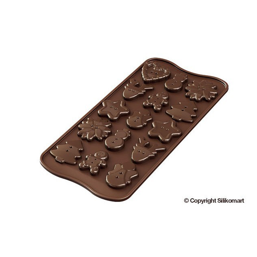 Stampo in silicone Xmas Choco Buttons SCG41 Silikomart
