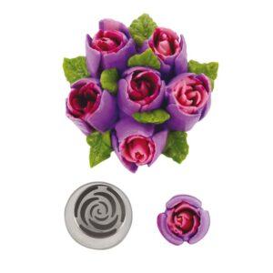 Bocchetta russa bocciolo di rosa n.243 Decora