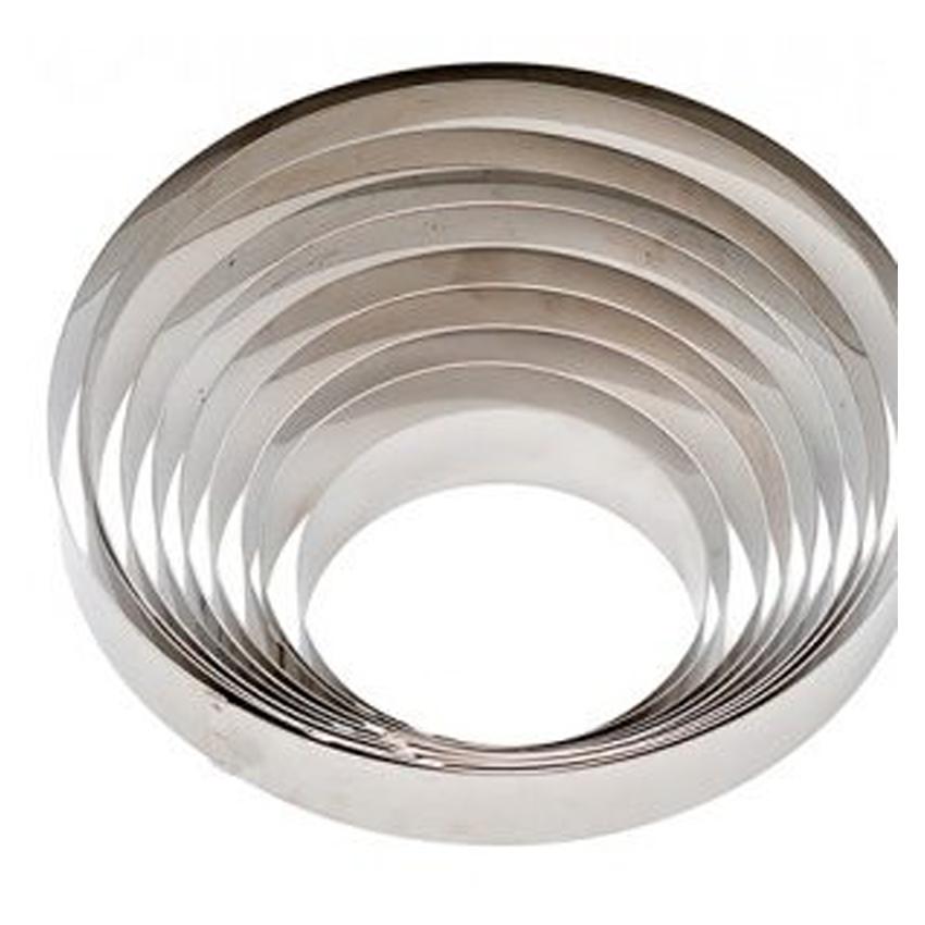 Cerchio in acciaio inox h 4,5 cm