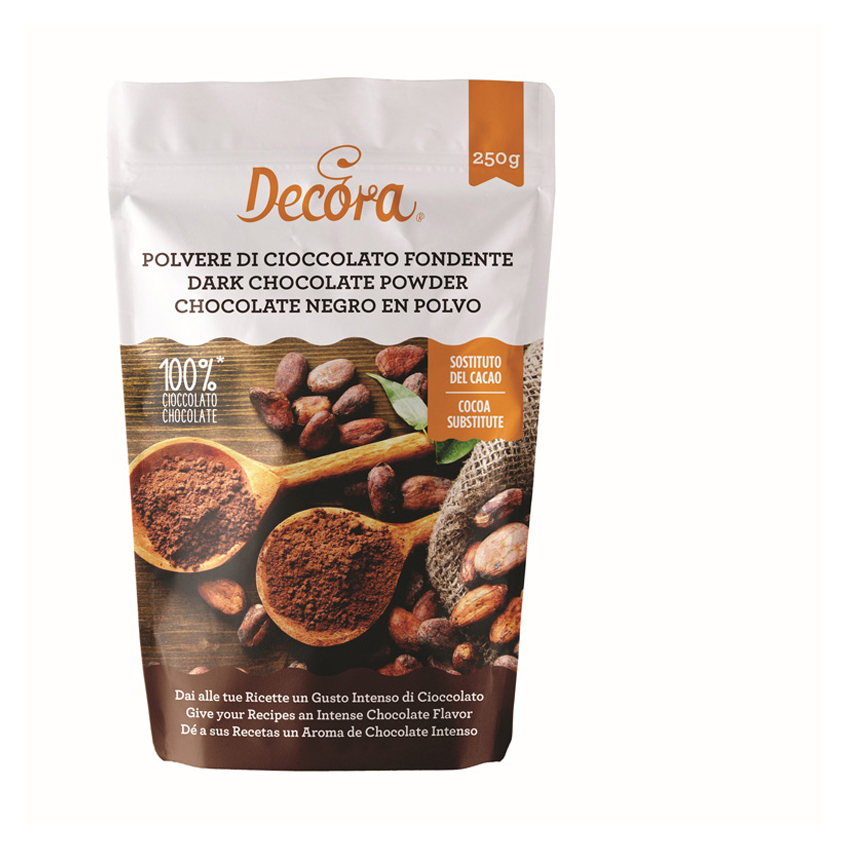 Cioccolato fondente in polvere Decora - 250 gr