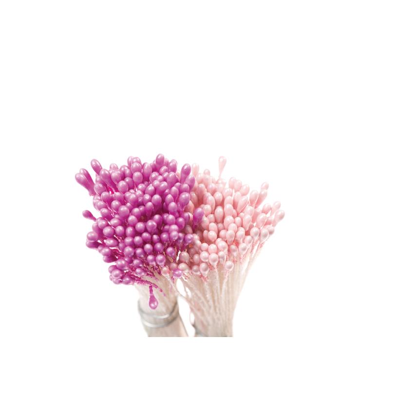 Confezione 288 pistilli viola rosa perla Decora